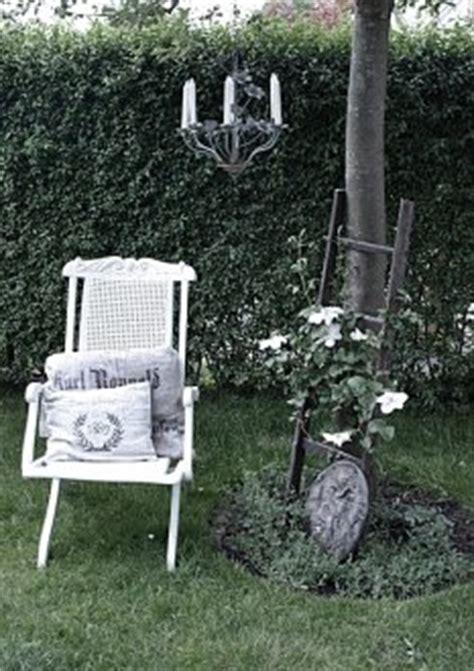 dekotipps garten deko dekorationen in shabby chic landhausstil und