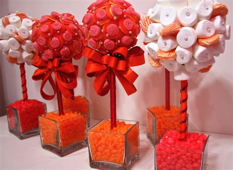 Candy Centerpieces Mitzvah Candy Themed Favors Decor Centerpiece Ideas