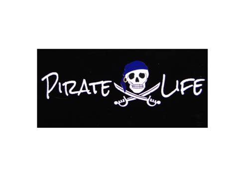Auto Graphs Decals by Blue Cap Pirate W Skull Premium Vinyl Car Decal