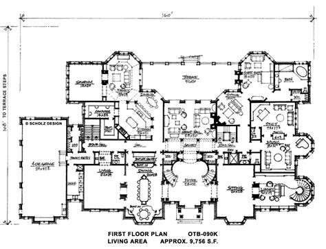 mansion designs 18 390 sq ft floor floorplans house