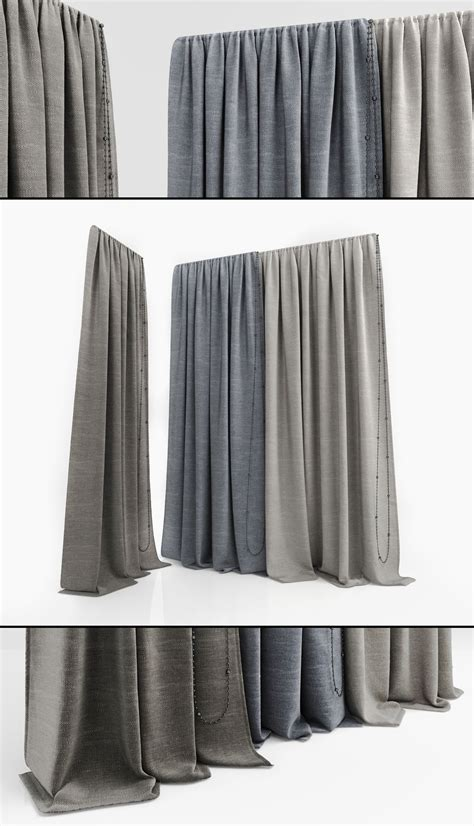 62 inch curtains curtains 62 3d model max obj cgtrader com