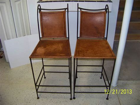iron and leather bar stools wrought iron and leather bar stools set of 2
