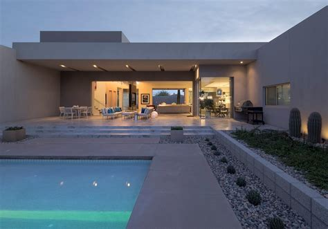 terraces outdoor pool mid century modern home in