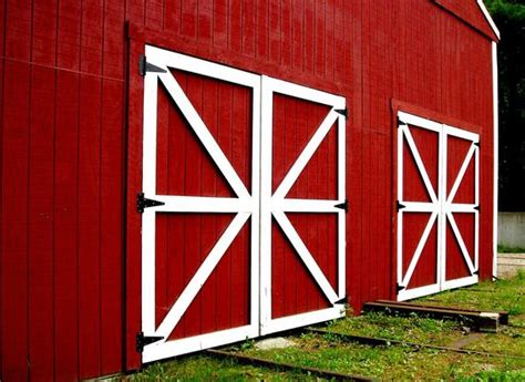 rustic decor red photography barn doors photo  signed print