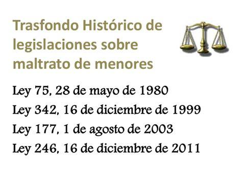 ley n 1340 ley de 28 mayo de 1992 jaime paz zamora ley 246 ley de maltrato dic 2011 cjr 2012 1