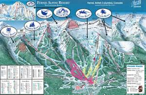 canada ski resort map fernie trail map skiing in fernie columbia
