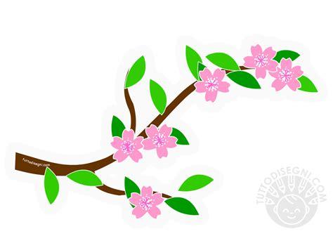 fiori di ciliegio disegno ramo di fiori di ciliegio addobbi primavera aula scuola