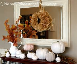 chic on a shoestring decorating i heart white pumpkins