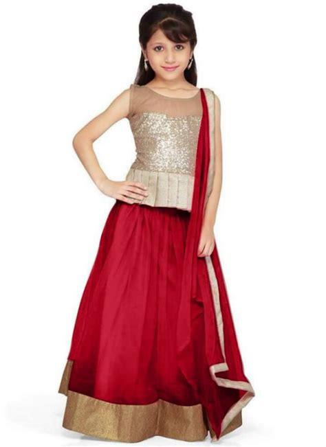 child dress design fashion style kids child baby girls wear lehenga choli