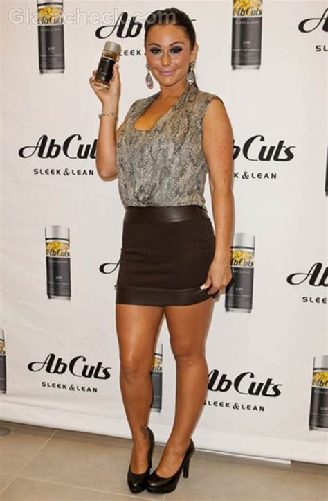 Jenni ?JWoww? Farley Goes Glam in Short Back Skirt