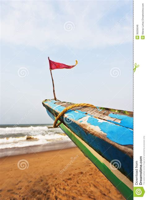 small boat flags small flag on the bow of a fishing boat puri orissa
