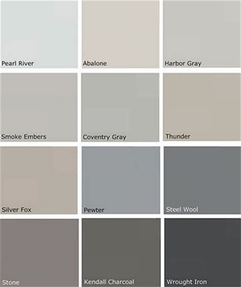 most popular gray paint colors more benjamin choices pewter silver fox thunder smoke