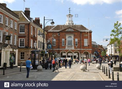 houses to buy in high wycombe high street and the guildhall high wycombe buckinghamshire stock photo royalty free