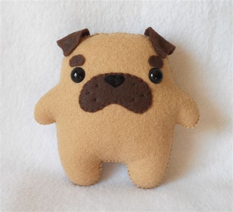 stuffed pug made to order pudgy pug plush by by deadlysweetplushes
