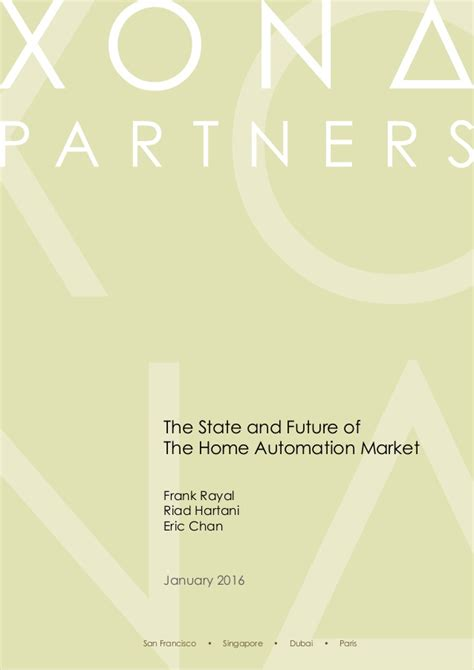 the state and future of the home automation market