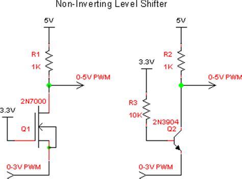 npn transistor level shifter servo issue using chipkit max32 board chipkit net