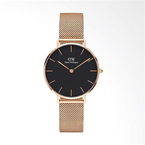 jual daniel wellington jam tangan wanita black gold harga kualitas