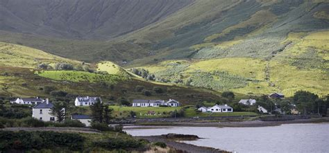 leenane irland leenane co galway near the fjord that divides galway