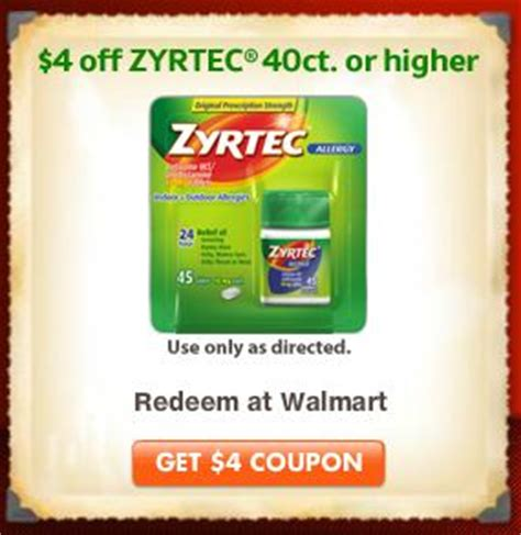 Zyrtec Sweepstakes - 4 off zyrtec coupon