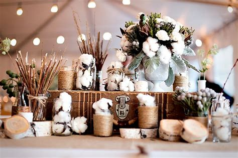 Decorating With Cotton by Cotton Inspiration For Your Wedding
