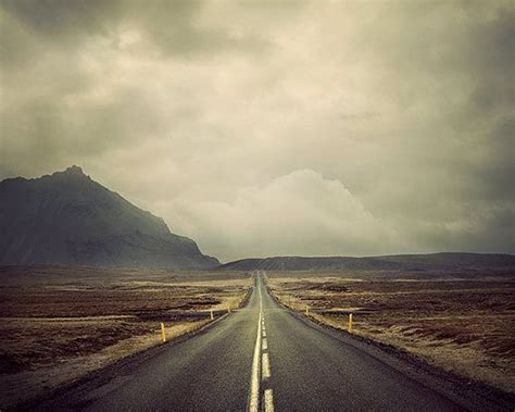 the open road photography large landscape photography open road travel print mountain decor iceland wanderlust print