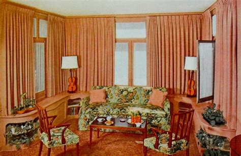 1940 Homes Interior 1940 S Home Decor Warp Around Living Room Wall Cabinetry My Interiors