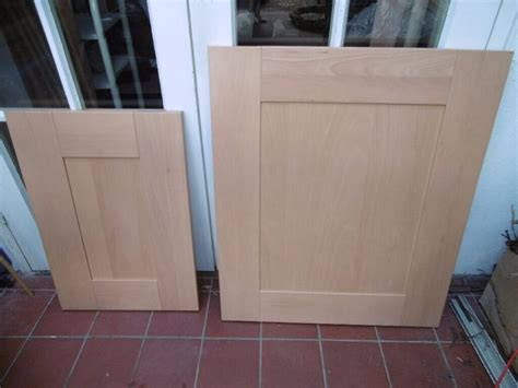 beech style shaker kitchen cabinet doors in dorchester