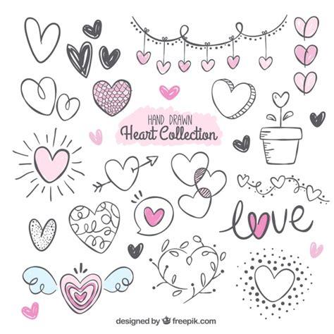 imagenes de corazones dibujados a mano pack fant 225 stico con variedad de corazones dibujados a mano