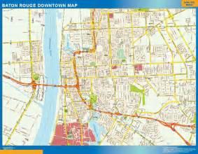 baton downtown map netmaps usa wall maps shop