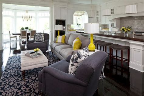 color scheme for kitchen living room combo a trendy color combo grey and yellow for both bold and serene interiors