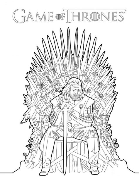 game  thrones coloring pages  adults images