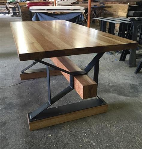 modern industrial desk modern industrial hickory desk the industrial farmhouse