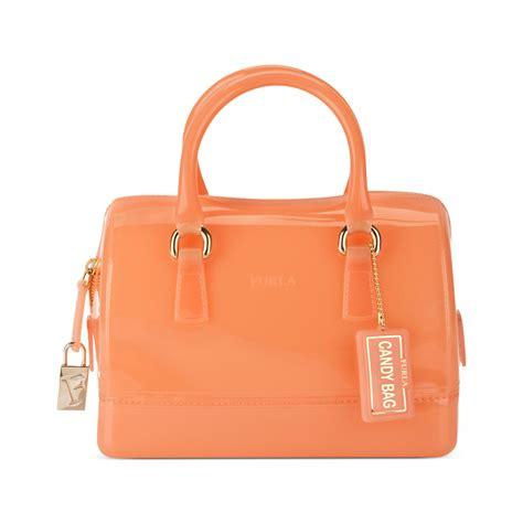 furla mini bauletto bag in orange belletto
