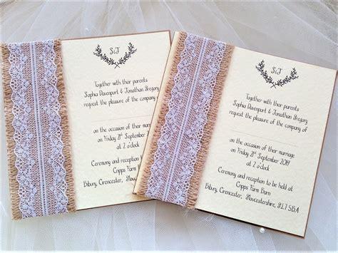 burlap and lace wedding invitations uk burlap and lace wedding invites rustic wedding invites