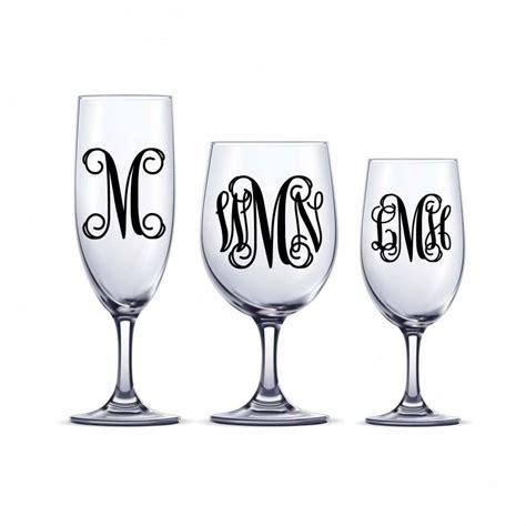 Hochzeit Sticker Initialen by Diy Vine Monogram Decal One Or Three Initial Sticker Decal
