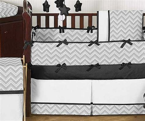 Chevron Print Crib Bedding Black And Gray Chevron Crib Skirt Prefab Homes