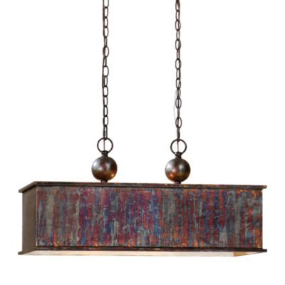 Uttermost Albiano Rectangle 2 Light Pendant Buy Uttermost 1 Light Oxidized Bronze Pendant L From Bed Bath Beyond