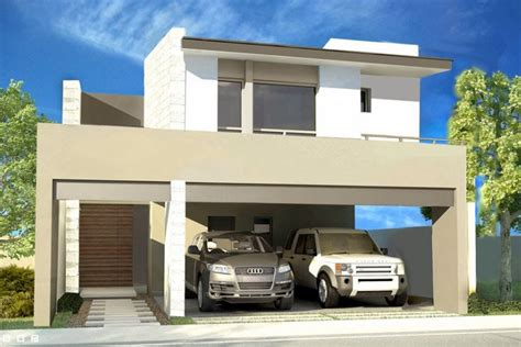 cocheras abiertas modernas fachadas de casas modernas con cochera abierta