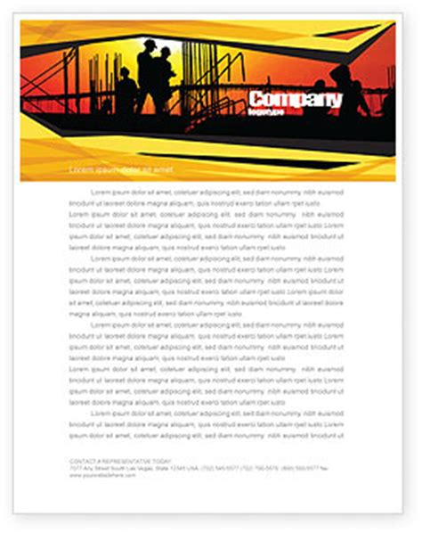 builders letterhead template builders letterhead template layout for microsoft word adobe illustrator and other formats