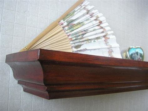 cherry wood shelves cherry stained all wood wall shelf 24