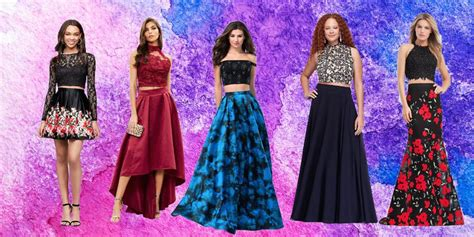 Rok Midi Flower Punching Skirt 601 Rok Midi Flare Lebar Rok 19 best two prom dresses of 2018 stylish crop top prom dresses