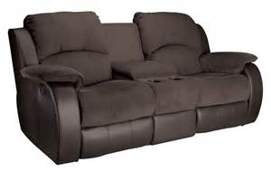 Loveseat Console lorenzo microfiber reclining loveseat with console