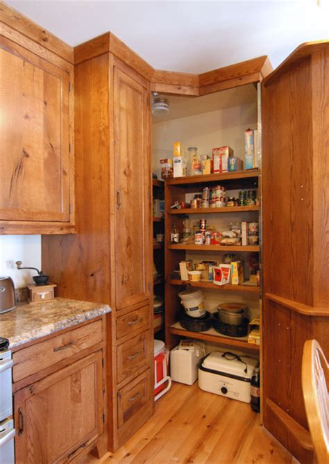 Kitchen Corner Pantry Ideas Corner Pantry Traditional Kitchen Other Metro By