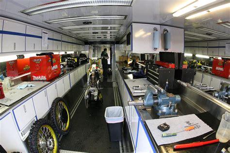 Motorhome Garage Plans by Your Enclosed Trailer Setups Show Em Moto Related