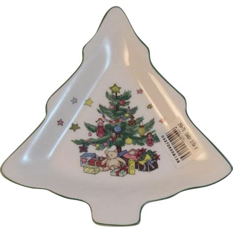 nikko christmastime christmas tree candy dish from