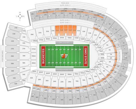 seating section ohio state football ohio stadium seating chart