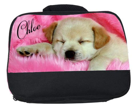 puppy lunch box personalised puppy labrador lunch box bag any name printed free ebay