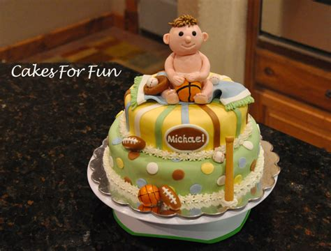 Baby Shower Cakes Sports Theme by Sports Theme Baby Shower Cake Cake Decorating Community