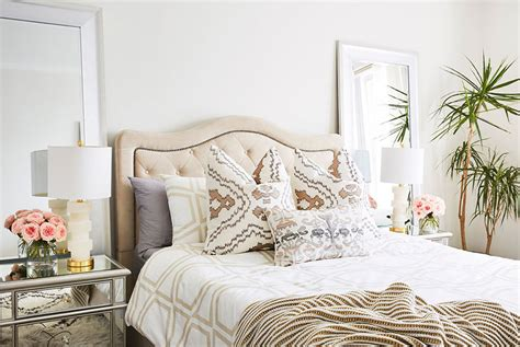 home goods bedroom before after a bedroom that s neutral but far from boring real simple