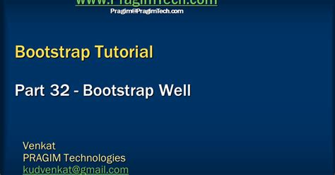 tutorial bootstrap video sql server net and c video tutorial bootstrap well